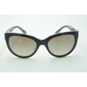 Prada SPR 05P Sunglasses MAT-1X1 Purple / Brown
